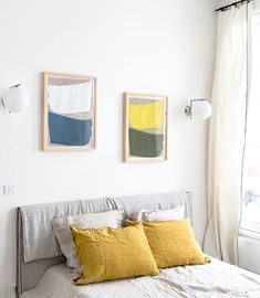 sunny bedroom inside zuexis, a parisian art gallery re-imagined as a townhouse. / sfgirlbybay