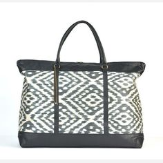 Malka Ikat Long Weekender Bag