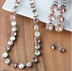 Treat Yourself!!  These beautiful crystal pieces from Rachel Marie Jewelry are so delicious, you'll want to try one in every color scheme. These beautiful Creme Brule colors will have you drooling.  Find more beautiful and affordable jewelry at DetailsDirect.com!