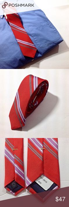 dfb1c768c Men s Red Striped Tie-Ted Baker London-NWT Ted Baker London Men s Tie 70