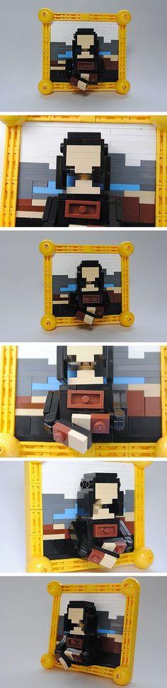 Mona Lisa hecha con LEGO