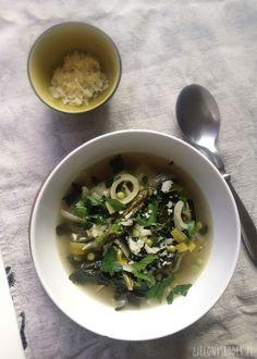 + GENIALNA!! zielone minestrone, czyli wiosenna zupa ze szparagami, szpinakiem i kapustą