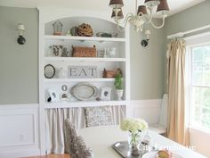Dining Room Reveal - City Farmhouse,  Wall Color - Sprig of Ivy - Lowe's Olympic