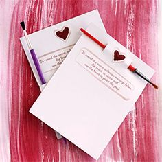 Create secret message valentines complete with watercolor paint and brush!  Free printable + tutorial