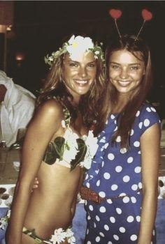 Alessandra Ambrosio and a very young Miranda Kerr