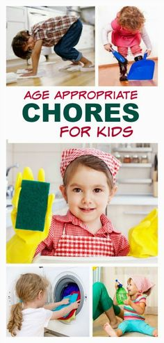 A FANTASTIC list of chores for toddlers, preschoolers, and younger school age children.