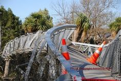 """""""I've cycled over this pedestrian-cycleway hundreds of time and as I look at it now, I still can't quite grasp the enormity of what has happened in Christchurch over the last six days"""". [Adrienne Rewi, 09 Sept 2010]"""