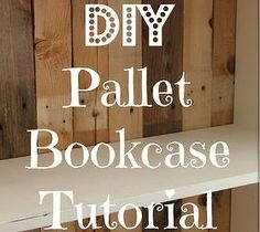 DIY Pallet Bookcase - Here a tutorial on turning an old bookcase in to something updated - all with free pallet wood! [me…