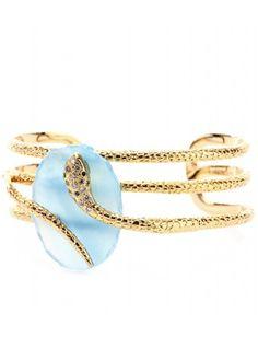 Gold-Plated Cuff With Embellishment + Isharya ∫ mytheresa Isharya, Snake Bracelet, Luxury Fashion, Womens Fashion, Bangles, Bracelets, Fashion Details, Jewelry Rings, Jewellery
