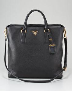 Prada Vitello Daino North-South Tote Bag - Neiman Marcus