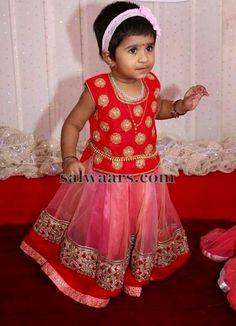 Light Pink and Orange Skirt | Indian Dresses