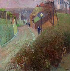 """Carl Moll (1861-1945). """"Blick von der Hohen Warte auf Heiligenstadt"""", c. 1900"""
