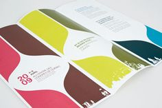 I think the symmetry and colors really make this brochure stand out. behanceWine-Spirits-Festival-Branding
