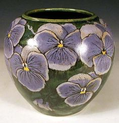 Pansy vase (with great tutorial) by Nan Hampton