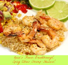 Spicy Citrus Shrimp Skewers!