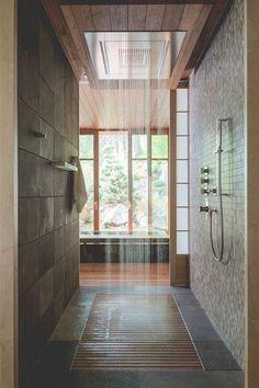 Déco salle de bain spa avec une douche italienne