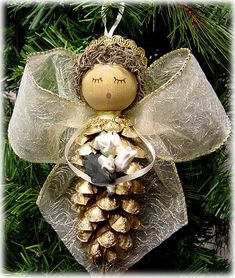 Pinecone angel !!!!adorable by brittany