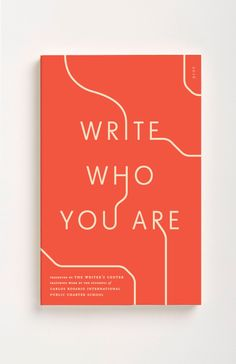 Book of student writing from The Writer's Center, 2016.