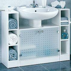 Diversidad de gabinetes en tu baño para ordenarlo meor.