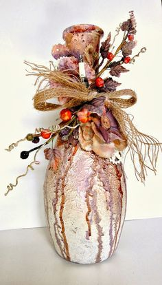 Altered vase by Adrienne