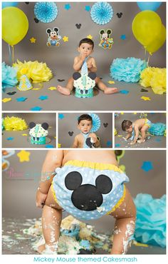 Mickey Mouse themed Cakesmash #newbornphotographer #newbornphotographers #brampton #bramptonnewbornphotographer #bramptonnewbornphotography #newborn #baby #babyphotographer #baby boy #babygirl #torontophotographer #mississauga #preciousmomentsphotographybynatashasamaroo #pmpbyns #photography #photographer #cakesmash #babysfirstbirthday #jazcakes #cakesmashphotographer #bramptoncakesmash
