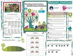 Reading Intervention Essentials Bundle: Looking for a complete reading K-3 reading intervention kit that includes fluency, comprehension, sight words, and phonics activities?  Need engaging and motivating reading supplemental products to enhance your existing curriculum?