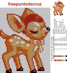 Bambie+punto+de+cruz++Cross+Stitch-1.png (627×677)