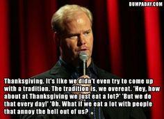 Thanksgiving logic.