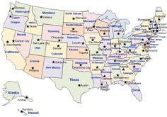 united states capitals quiz printable Google Search School
