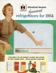 """international harvester 1954. """"Femineered"""" I love that. She gets to decorate the outside.Cowan ephemera collections."""