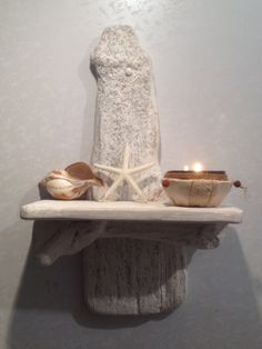 Driftwood Sconce  Candle holder  Art  Crafts  by COASTLINECRAFTS, £25.00