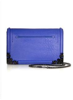 simple fold leather over shoulder bag -MCQ