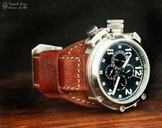 Curele de ceas, din piele, handmade. Topouzelli Straps.: Curea de ceas, T 900