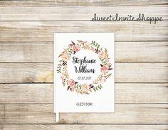 Guirnalda floral boda invitado libro encargo por SweetInviteShoppe