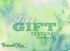 Free Fine Art watercolor Texture by French Kiss Collections.