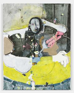Magnus Plessen, Untitled (yellow), 2011 Oil on canvas; 70 7/8 x 55 1/8 inches (180 x 140 cm), Gladstone Gallery
