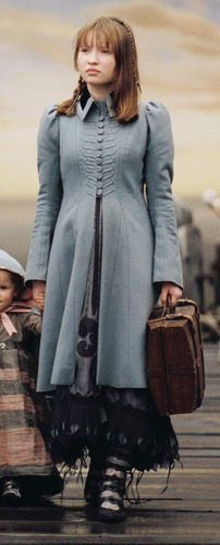 Violet Baudelaire's blue coat in Lemony Snicket's A Series of Unfortunate Events
