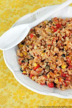 Cheesy Skillet Tex-Mex Rice