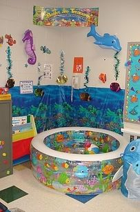 Fill an inflatable pool with pillows. | 21 Cozy Makeshift Reading Nooks- next year's summer school theme- Under the Sea