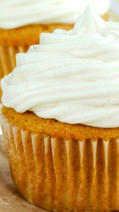 My Favorite Pumpkin Spice Cupcakes Recipe ~ fluffy and moist... They are the absolute perfect texture. What makes these cupcakes better than the rest, is that they actually TASTE like pumpkin spice and are really jam packed with so much incredible flavor.