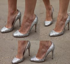 Jerome C. Rousseau Aizza glitter pumps (this site has cheaper alternatives too)