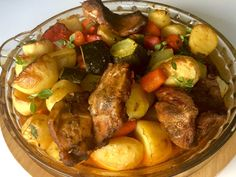 Karkówka z warzywami pieczona w rękawie - Blog z apetytem Restaurant, Kung Pao Chicken, Pot Roast, Zucchini, Pork, Food And Drink, Menu, Lunch, Cooking