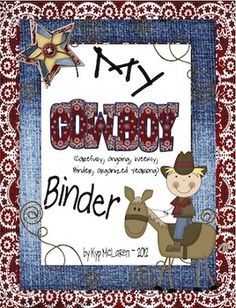 So, what is a Cowboy Binder?    The Cowboy binder is a 3-ring notebook that students use everyday to develop organizational skills and responsibility.  This 3-ring binder houses EVERYTHING your child, you (the caregivers) and I need to keep up-to-date with what is going on in our classroom and at school. Everything will be right here in our Cowboy Binder!