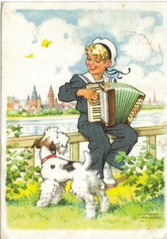 Kultige Postkarte 1955 www.markt.de/sammeln