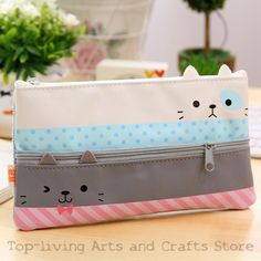 (1Pc/Sell) Kawaii Pencil Case Canvas School Supplies Bts Stationery Gift Estuches School Cute Pencil Box Pencilcase Pencil Bag