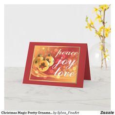 Christmas Magic Pretty Ornaments Dreamy Card