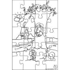 1000 images about puzzle da colorare on pinterest for Disegni di paesaggi da colorare
