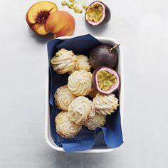 Peach and passionfruit kisses. Find our recipe here: http://www.waitrose.com/content/waitrose/en/home/recipes/recipe_directory/p/peach-and-passionfruitkisses.html