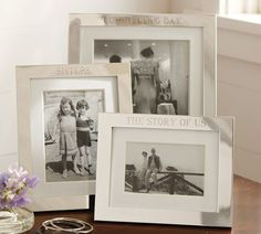 You can't go wrong gifting an engraved silver frame with a favorite family photo. #potterybarn