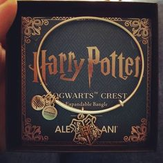 "HARRY POTTER™ HOGWARTS™ Two Tone Charm Bangle ""Help will always be given at Hogwarts to those who ask for it."" -Albus Dumbledore  Instagram : @loveislethalI"